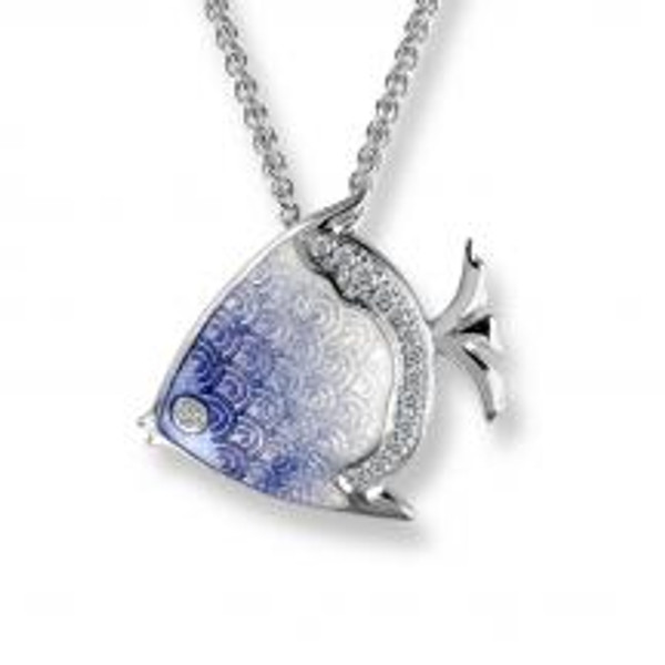 Sterling Silver Angel Fish Necklace