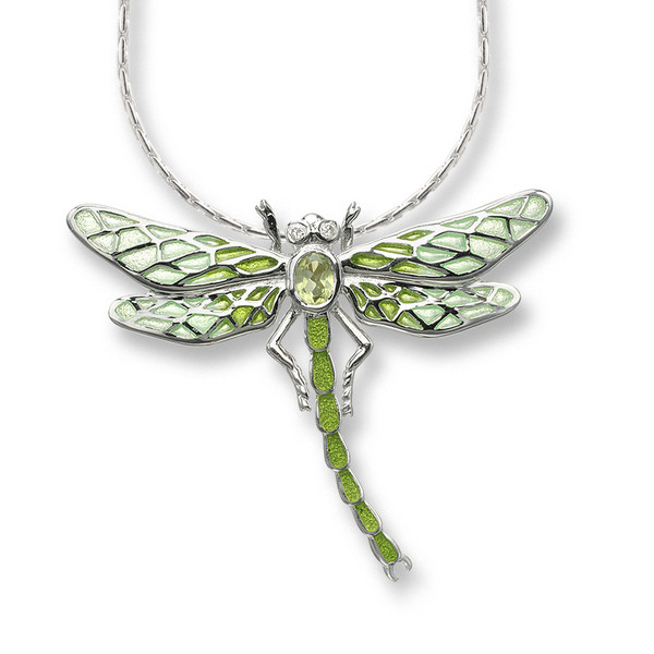 Dragonfly Necklace in Sterling Silver