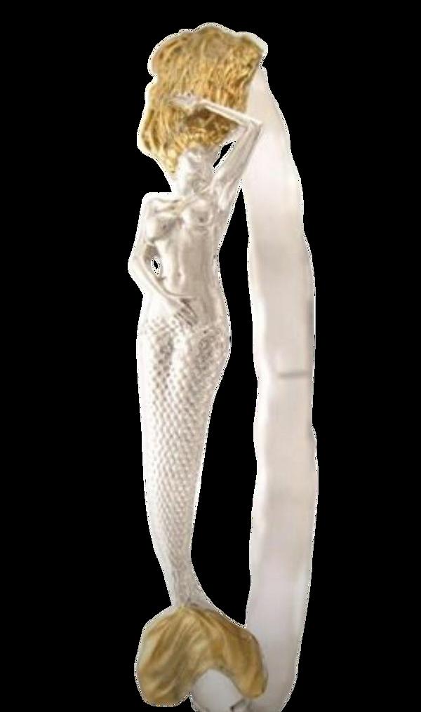 "Mermaid Bracelet ""Lunessa"" in SS/24k vermeil"
