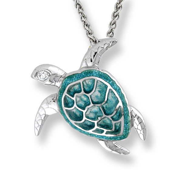 Sea Turtle Necklace-Seafoam