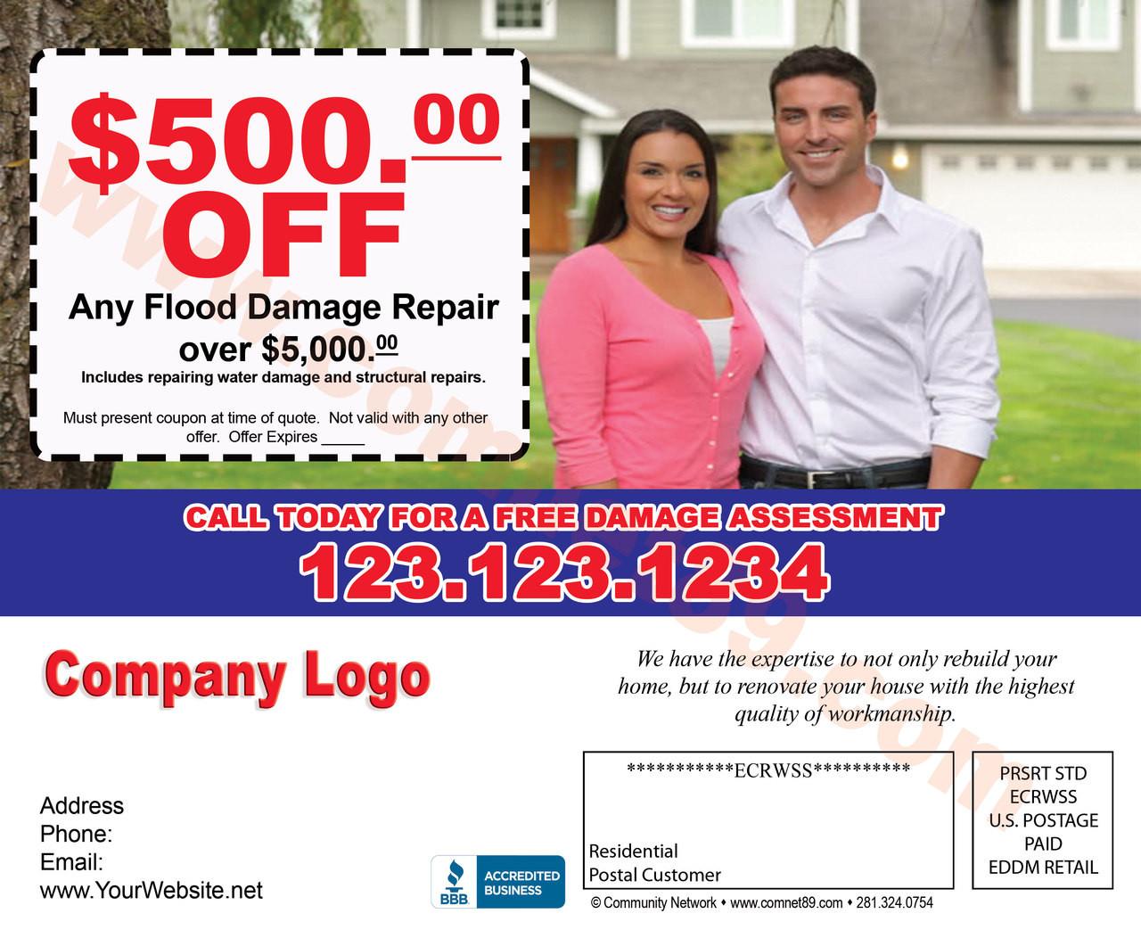 Flood Damage 03 EDDM Postcard