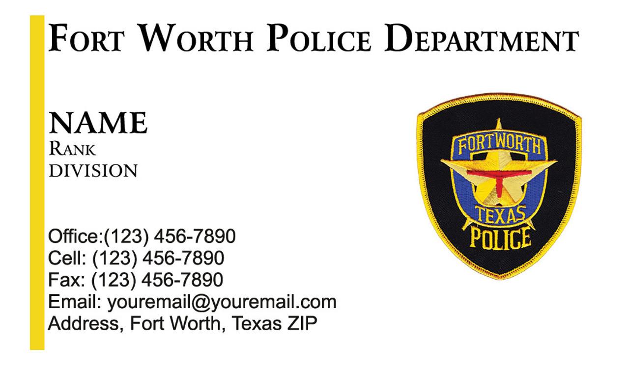 FWPD Business Card #1