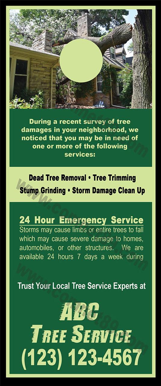 Tree Service Door Hanger 01