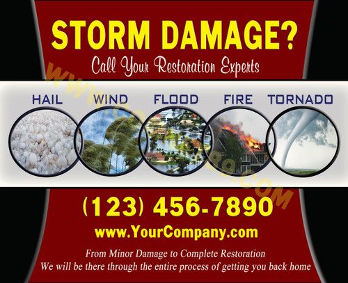 Hail Damage EDDM Postcard - 6.5 x 8 - Front