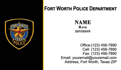 FWPD Business Card #5