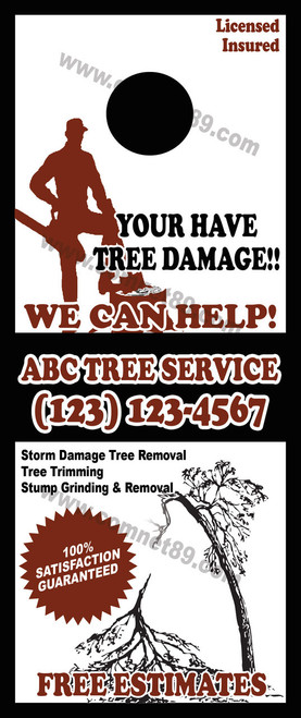 Tree Service Door Hanger 02