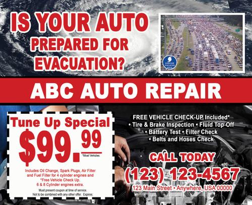 Auto Storm Preparation EDDM Postcard 01