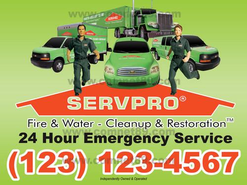 Servpro Yard Sign 01