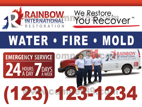 Rainbow Intl. Restore Yard Sign 01