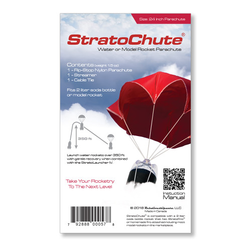 StratoChute parachute packaging.