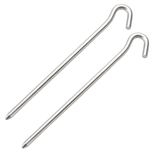 Two 7 inch Aluminum Tent Pegs