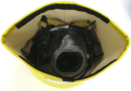 Lined SCBA Air Mask bag with velcro opening