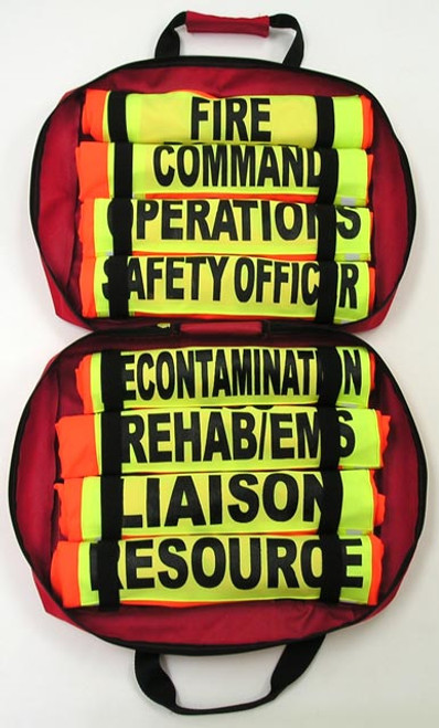 Incident Command Vest Case open