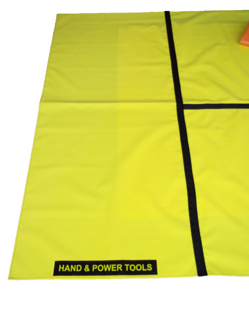 Extrication Mat labeled Hand and Power Tools