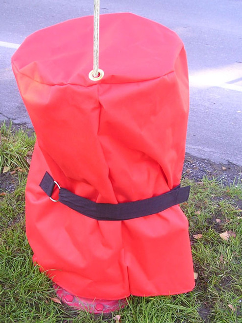 Out of Service Hydrant Cover Cinch Back