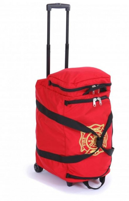 Wheeled fire fighter gear bag
