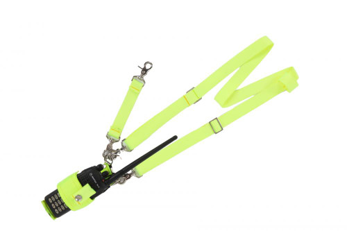 Hi Visibility Radio Case with shoulder and anti-sway strap