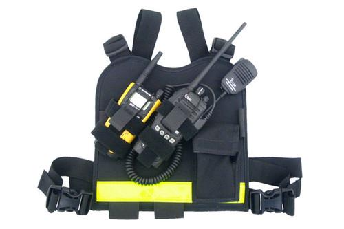 Dual Hand Held Radio Chest Harness