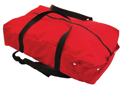High rise hose pack with carry handle closed