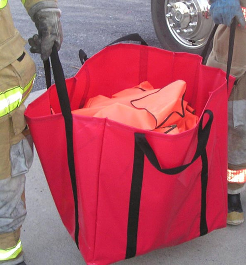 Debris Bag in use