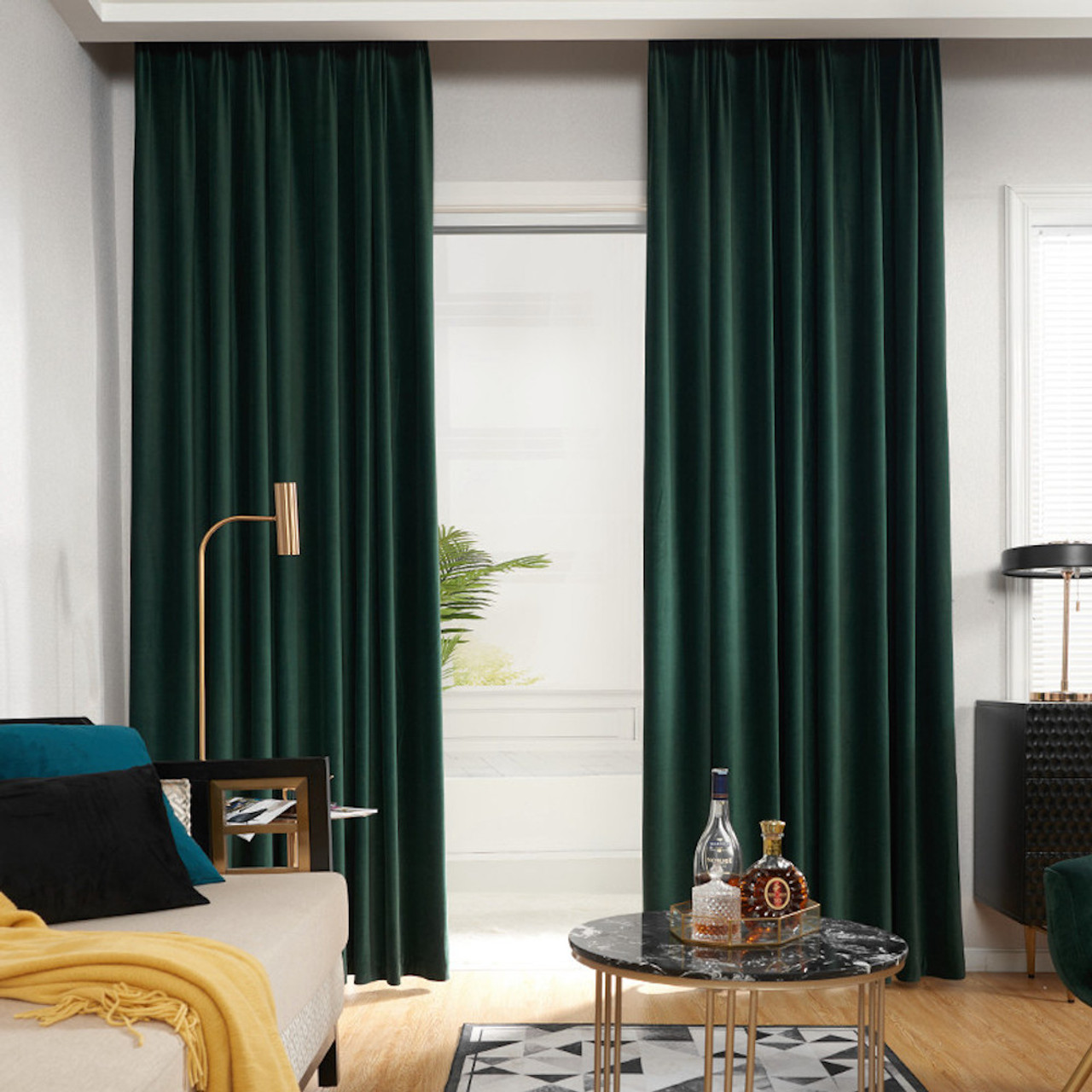 Velvet Lux Custom Made Curtains 100 Blockout Heritage Green