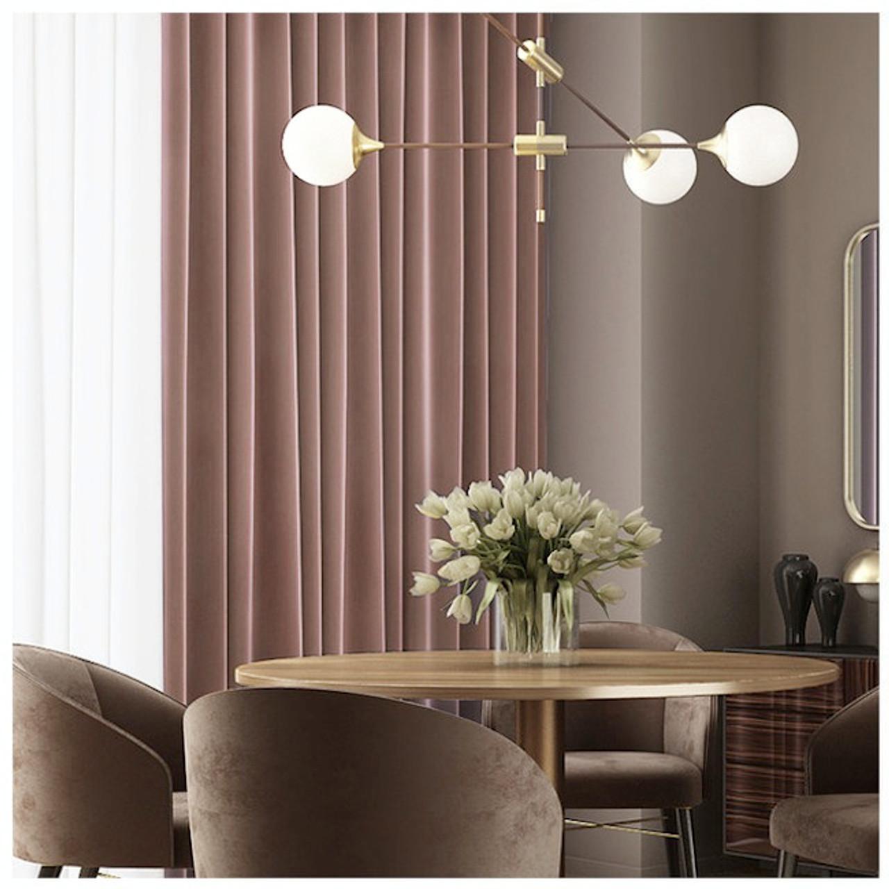 Velvet Lux Custom Made Curtains 100 Blockout Light Blue