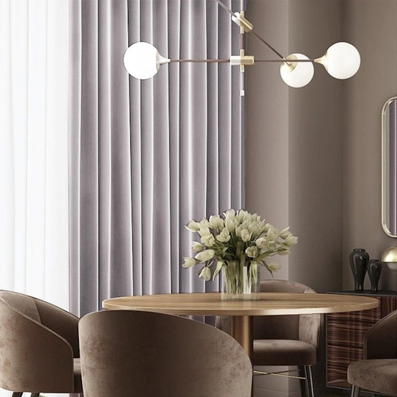 Velvet Lux Custom Made Curtains 100 Blockout Grey