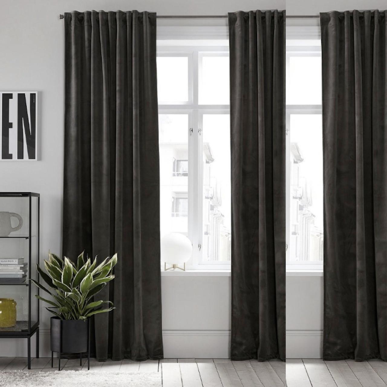 Eton Velvet Eyelet Curtain Panel Rosewater Pink