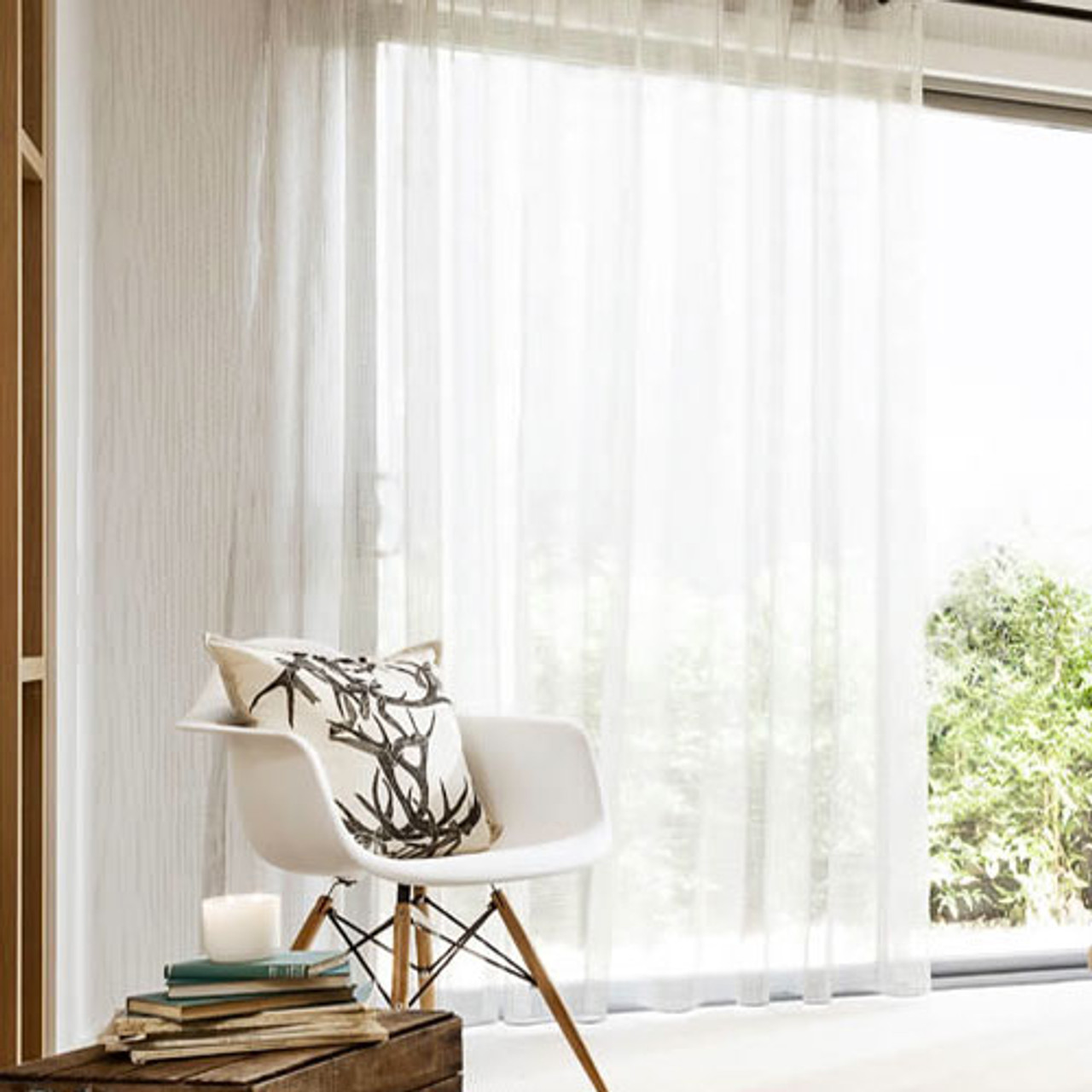 Bristol Pinch Pleat Sheer Curtains Extra Long White