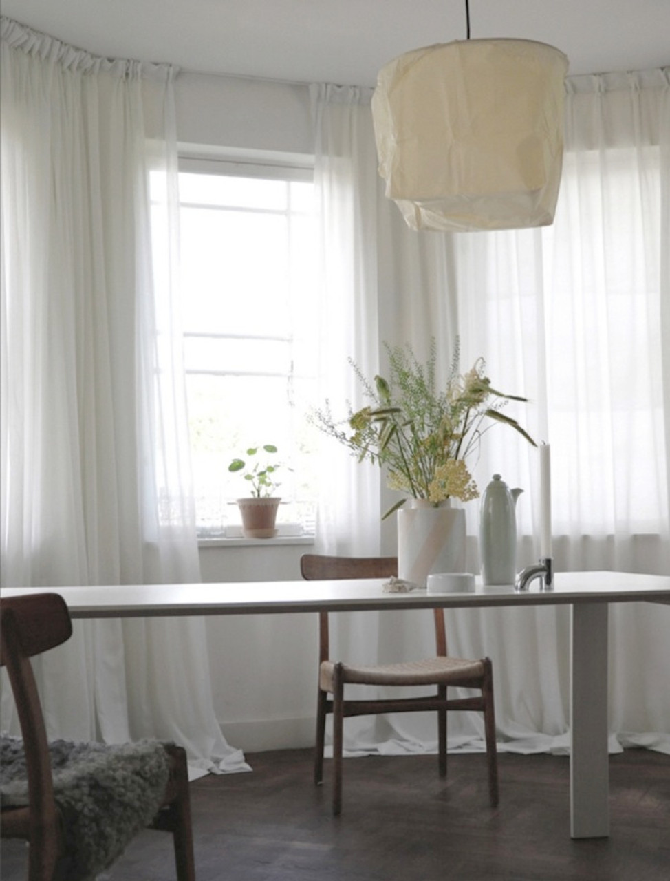 Bristol Custom Made Sheer Curtains White Quickfit