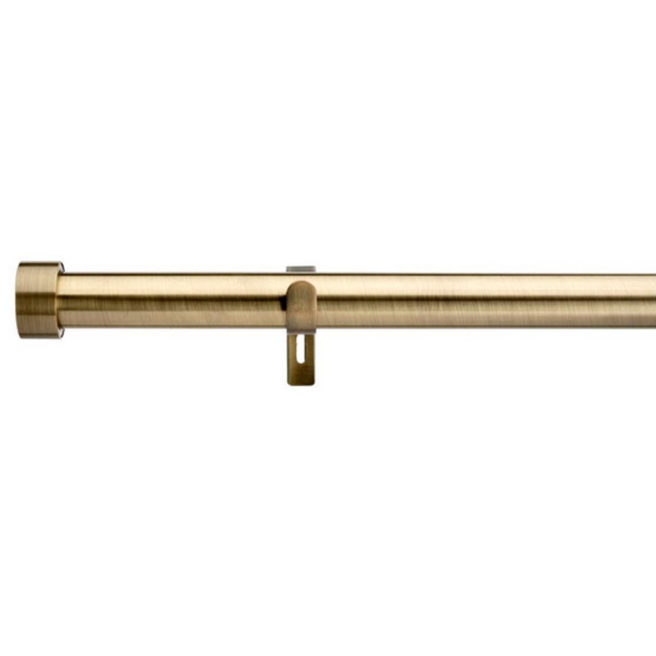 Curtain Rod Extendable Set 80cm To 300cm Contemporary Brass Quickfit