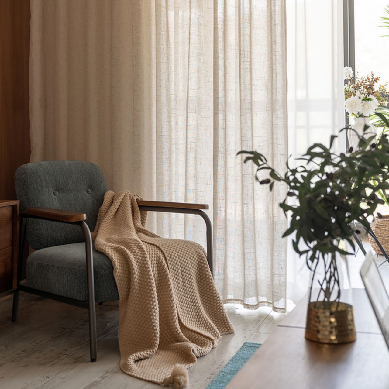 Husk Made To Measure Sheer Curtains Natural Quickfit