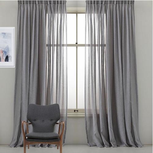 Bristol Custom Made Sheer Curtains Grey Quickfit