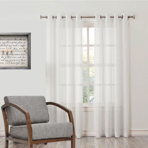 Waldorf Made To Measure Sheer Curtains White Quickfit