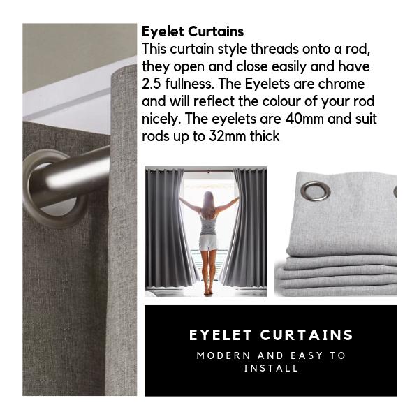 Custom Made Eyelet Curtain Style