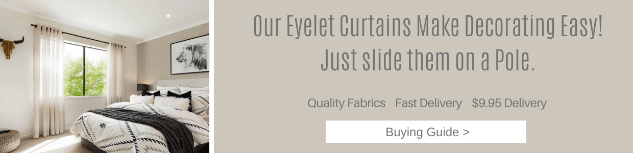 Quality Eyelet Blockout Ready Made Curtains