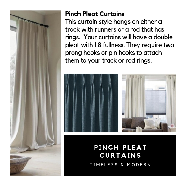 All about Pinch Pleat Style Curtains