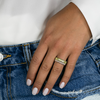 Yellow Gold-3^Eternity Ring Designs: Kristyn Kylie Baguette Gemstone Ring in Yellow Gold