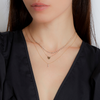 Yellow Gold-2^Diamond Pendant Necklaces: DRD Heart Necklace in Yellow Gold