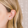 White Gold-2^Earring Climbers: Sadie Pearl Baguette Single Row Climbers in White Gold