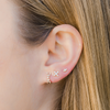 Yellow Gold-2^Designer Stud Earrings: Ava Bea X Studs in Yellow Gold