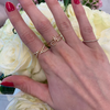 Rose Gold-3^Bypass Rings: Ava Bea Open Bypass Ring in Rose Gold
