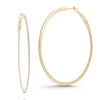 Yellow Gold-1^Gold Diamond Hoops: DRD Diamond Large Hoops in 14K Yellow Gold