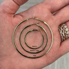 Yellow Gold-3^Gold Diamond Hoops: DRD Diamond Large Hoops  in 14K Rose Gold