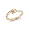 Sadie Pearl Baguette Channel Bypass Ring
