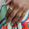 DC-Yellow Gold-Yellow Sapphire-2^Sapphire Rings: Kristyn Kylie Baguette Sapphire Eternity Ring In 14K Yellow Gold