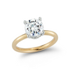 Hidden Halo Engagement ring with 2.02ct Round Brilliant