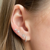 White Gold-2^Single Stud Earrings: Sydney Morgan for Syd Strong Single Initial Single Earring in White Gold