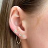 White Gold-6^Single Stud Earrings: Sydney Morgan for Syd Strong Single Initial Single Earring in White Gold