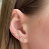Yellow Gold-7^Single Stud Earrings: Sydney Morgan for Syd Strong Single Initial Single Earring in Yellow Gold
